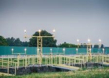 Lumières de piste à l'aéroport Photo stock