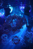 Lumières de piste de danse de boîte de nuit Photographie stock