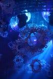 Lumières de piste de danse de boîte de nuit Photos stock