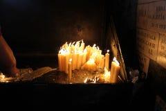 Lumières de prière Photo libre de droits