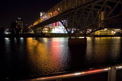 Lumières de rivière Photographie stock