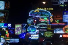 Lumières de route de Khaosan Photo stock