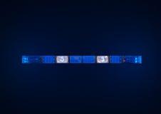 Lumières de secours de police Image libre de droits