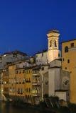 Lumières de soirée de Florence Photos stock