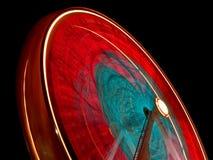 Lumières de spirograph de roue de Ferris Photographie stock