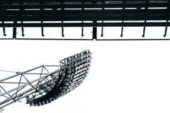 Lumières de stade au parc olympique à Munich photographie stock
