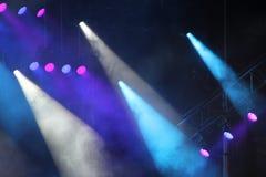 Lumières de stroboscope de concert Photos stock