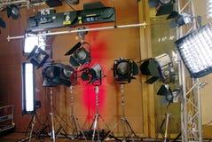 Lumières de studio Images libres de droits