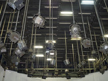 Lumières de studio de TV images libres de droits