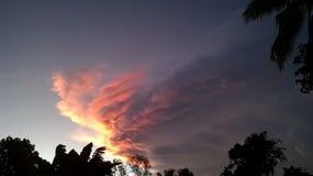 Lumières de Sun le soir image stock