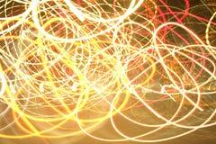 Lumières de Swirly photo libre de droits