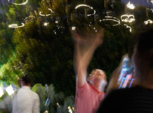 Lumières de Swirly Images stock