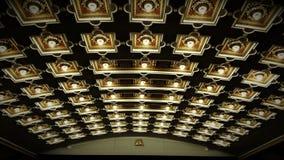 Lumières de théâtre et cinéma de conception architecturale Photos libres de droits
