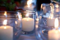 Lumières de thé de mariage Photographie stock