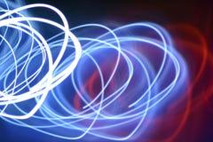 Lumières de tourbillonnement Blurred Photographie stock libre de droits