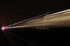 Lumières de train Photographie stock