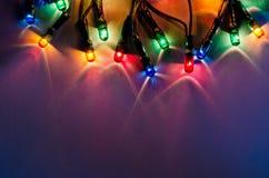 Lumières de vacances Images libres de droits