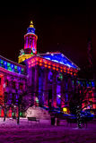 Lumières de vacances de bâtiment de Denver City et du comté Photos libres de droits