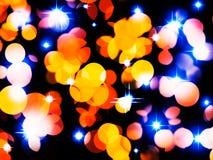 lumières de vacances de fond Photographie stock libre de droits
