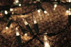 Lumières de vacances de Noël Image libre de droits