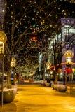 Lumières de vacances en Denver Colorado Etats-Unis Image stock
