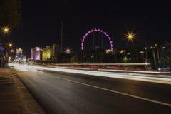 Lumières de ville à Las Vegas Images libres de droits