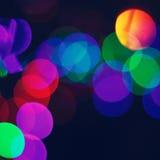 Lumières de ville de Blured photo libre de droits