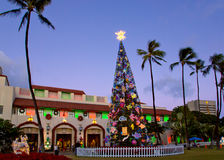 Lumières de ville de Honolulu Photos stock