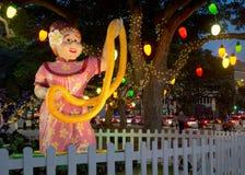 Lumières de ville de Honolulu Photographie stock libre de droits