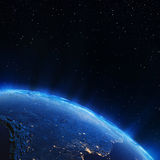Lumières de ville de l'Amérique du Sud Photo libre de droits