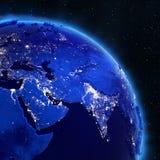 Lumières de ville de l'Asie de l'espace illustration libre de droits