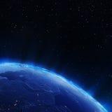 Lumières de ville de la Russie Images libres de droits