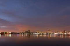 Lumières de ville de Long Beach Image libre de droits
