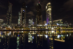 Lumières de ville de Melbourne Photos stock