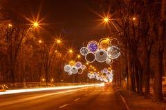 Lumières de ville en vacances photographie stock libre de droits