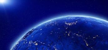 Lumières de ville - la Russie et l'Asie Photo stock