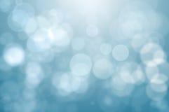 Lumières Defocused bleues Images libres de droits