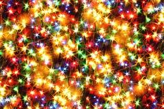 lumières defocused d'image de Noël d'ampoules de fond Images libres de droits