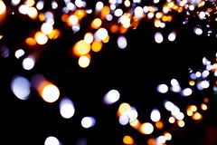 lumières defocused d'image de Noël d'ampoules de fond photos libres de droits
