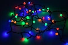 lumières defocused d'image de Noël d'ampoules de fond Photographie stock