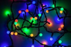 lumières defocused d'image de Noël d'ampoules de fond Image libre de droits