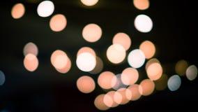 Lumières Defocused de bokeh d'abrégé sur fond de lumières Photo stock