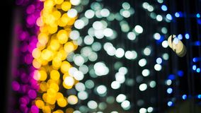 Lumières Defocused de bokeh d'abrégé sur fond de lumières Photographie stock