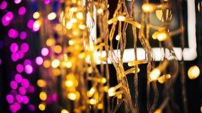 Lumières Defocused de bokeh d'abrégé sur fond de lumières Images stock