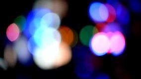 Lumières Defocused de célébration de disco de Bokeh banque de vidéos