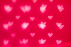 Lumières Defocused de scintillement de Bokeh d'abrégé sur heureux Saint-Valentin Photos stock