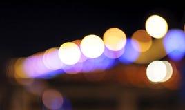 Lumières defocused multicolores Photo libre de droits