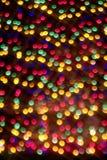 Lumières des vacances de Noël Image stock