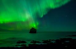 Lumières du nord Photographie stock libre de droits