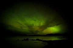 Lumières du nord au-dessus de la Norvège Images libres de droits